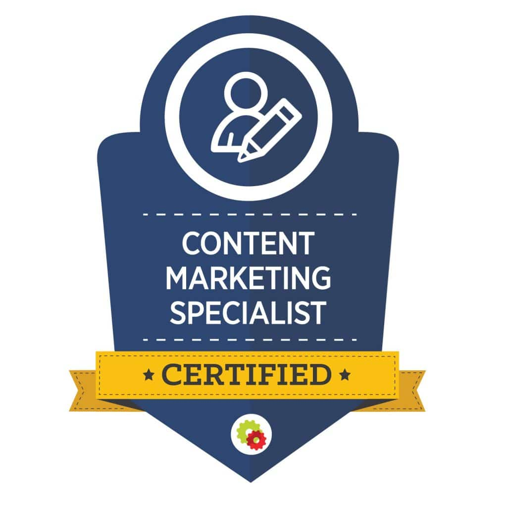 Digital Marketer Content Marketing Specialist Badge | Musselwhite Marketing