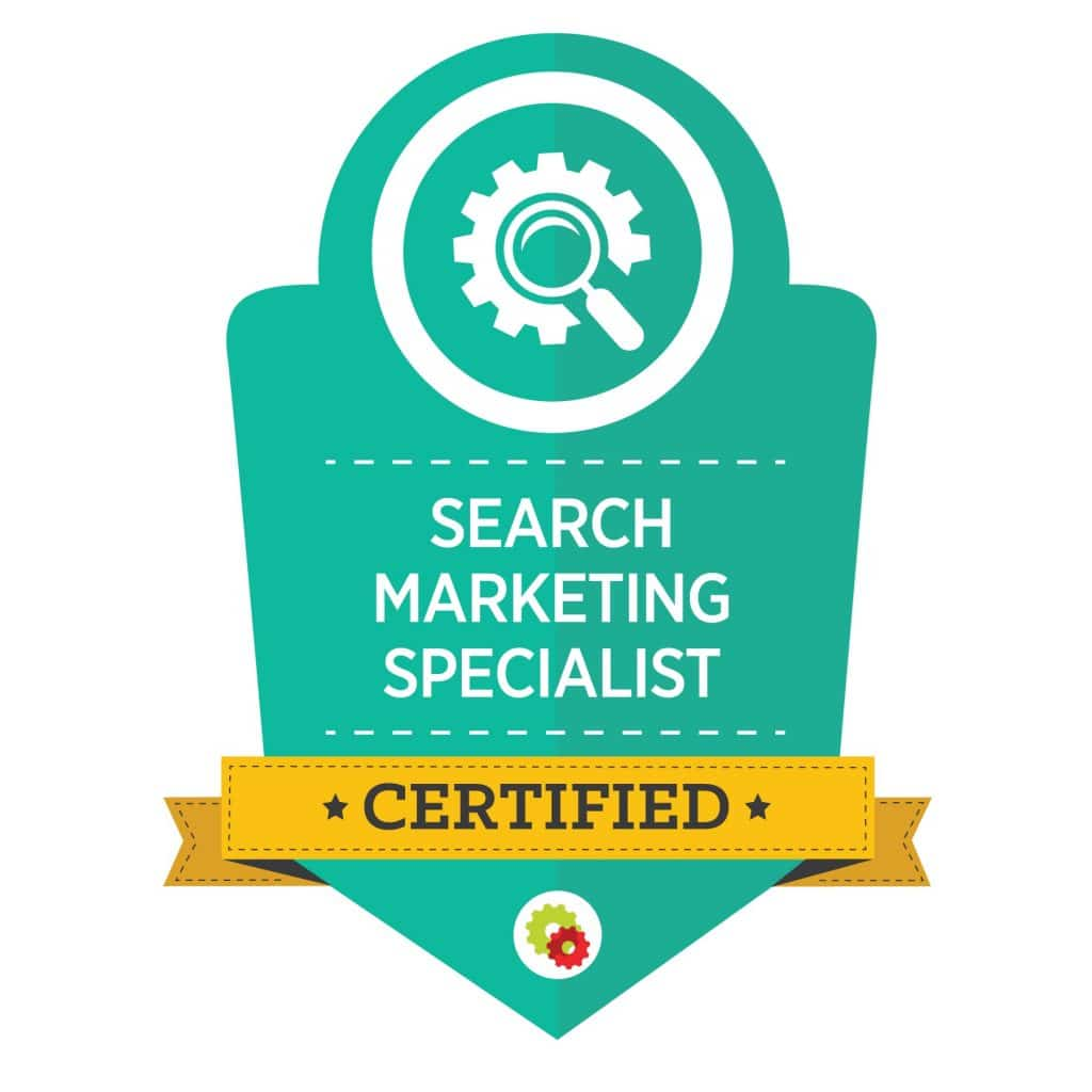 Digital Marketer Search Marketing Specialist Badge | Musselwhite Marketing