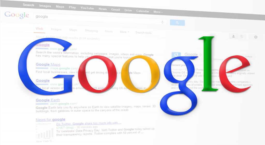 search engine, search results, google