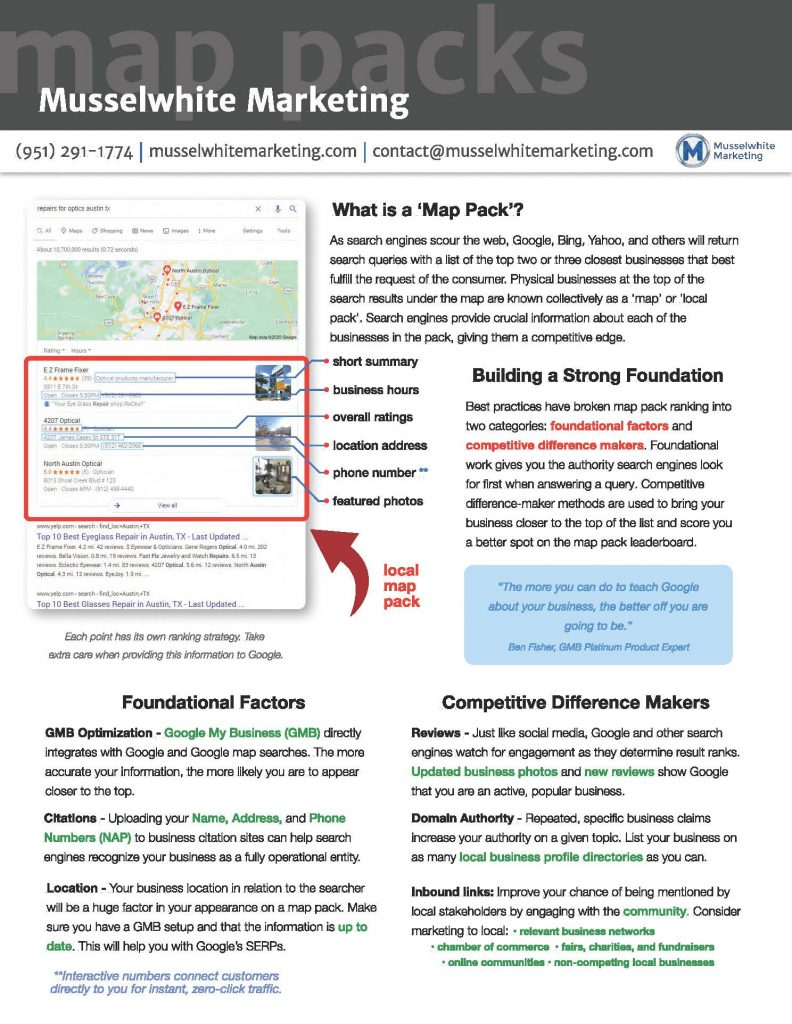 Google Maps | Musselwhite Marketing