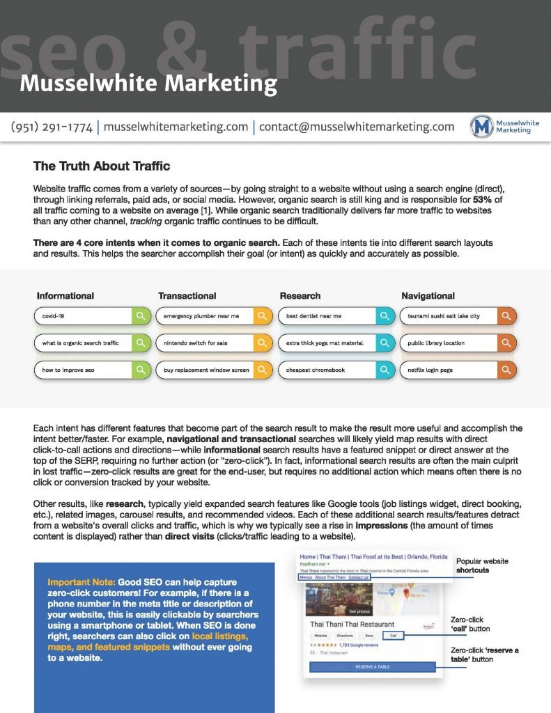 The Truth about Traffic | Musselwhite Marketing