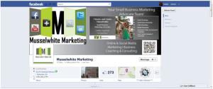 screenshot of Musselwhite Marketing Facebook page